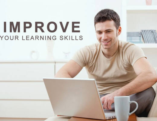 improve Your Learning Skills - man on laptop